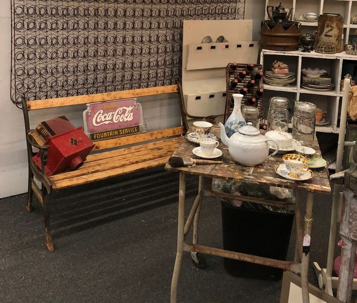 Old Cast Iron Fountain Services Coca Cola Bench On Sale Was $295 Sale Price  $160 Dallas