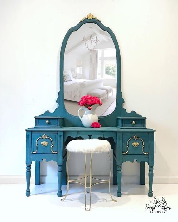 Sold Vanity Table Vintage Vanity And Stool Vanity Table Makeup Table Vanity Dresser Hand Painted Vanity Table Vintage Bedroom Vintage Makeup Table Vanity