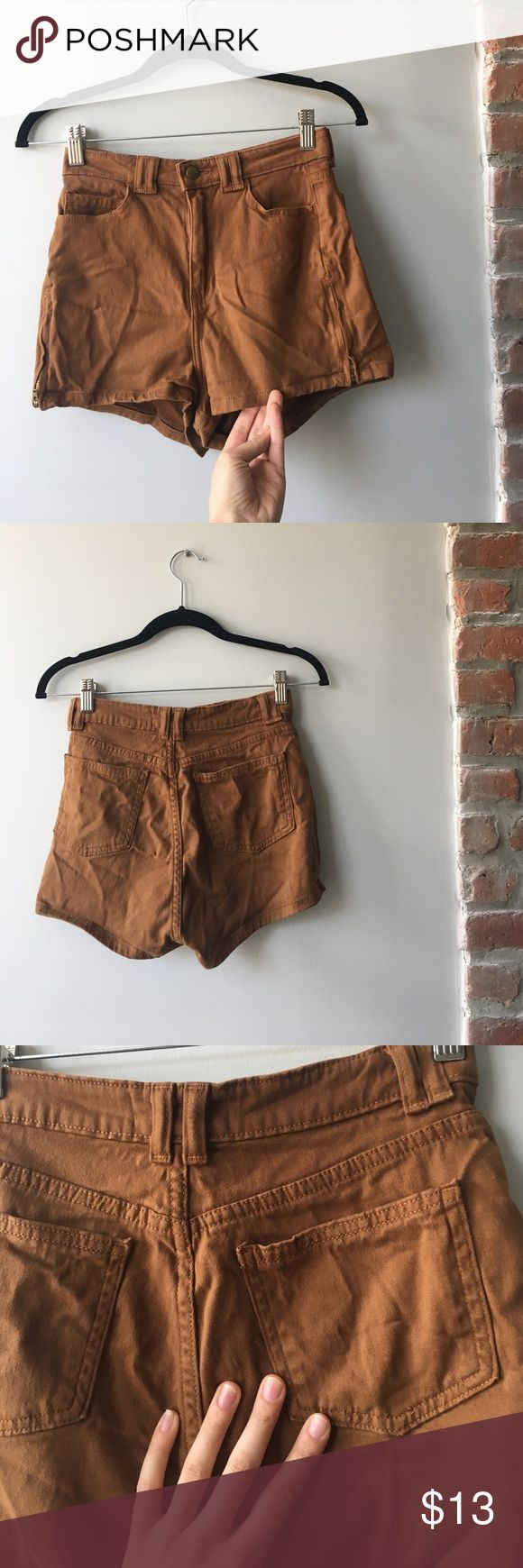 american apparel size zipper shorts (wrinkles from storage) price is negotiable! stretchy denim like material, must go! American Apparel Shorts