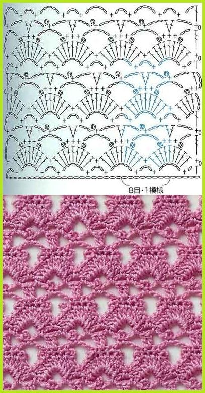 Stitch chart - be lovely for a stole or rectangular shawl.