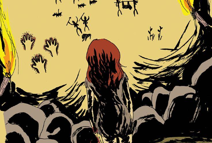 'La muchacha salvaje'. Imagen: Ediciones Sinsentido      Mireia Pérez    Comenzó su carrera como ilustradora en 2008 gracias a una beca Erasmus en Angoulême. Ha colaborado en revistas como El Manglar o El Jueves. En 2010 recibió los elogios de la crítica con su primera novela gráfica, Chica y Monstruo en la llegada del invierno. Un año después editó La muchacha salvaje, una serie de historietas que narran la vida de una chica en la Prehistoria y que han sido calificadas de feministas.