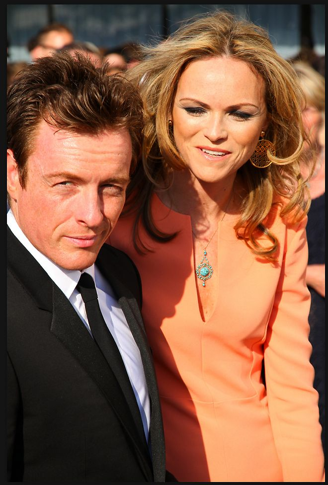 Toby and his wife Anna at the BAFTA Comedy Awards.