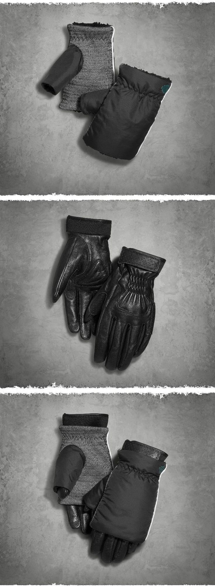 We doubled the comfort, versatility, and style. | Harley-Davidson Women's Cache 2-in-1 Gloves