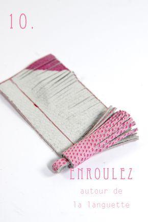 DIY tuto sac enveloppe en cuir- leather envelope bag 10