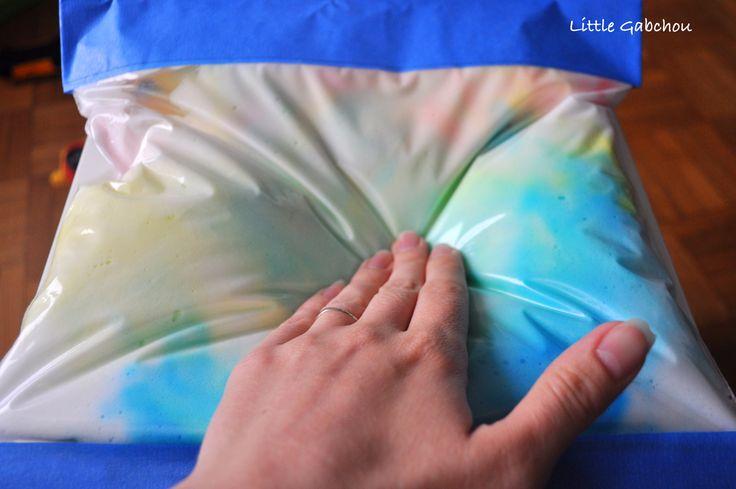 sac sensoriel mousse à raser sensory bag shaving cream