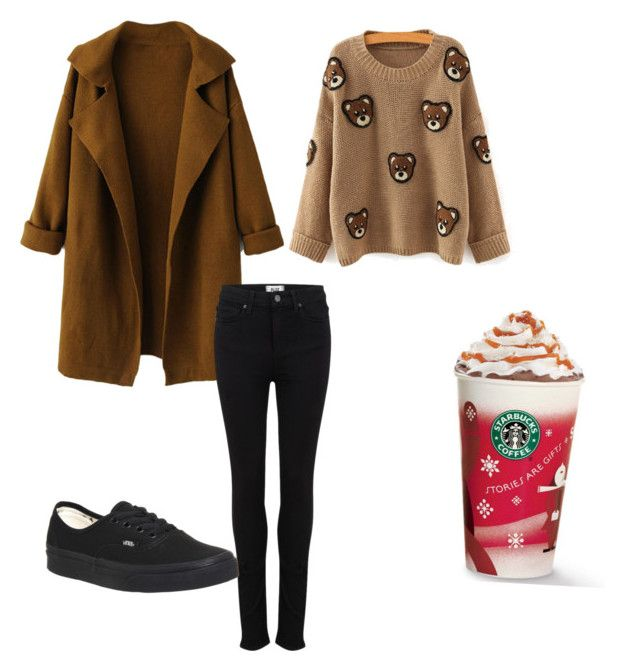 """""""h.k"""" by hanika15 on Polyvore featuring beauty, WithChic, Paige Denim and Vans"""