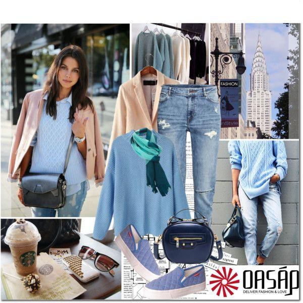 OASAP-Há algo no ar Canção de Estilo! by vaniasb152 on Polyvore featuring moda, H&M and oasap
