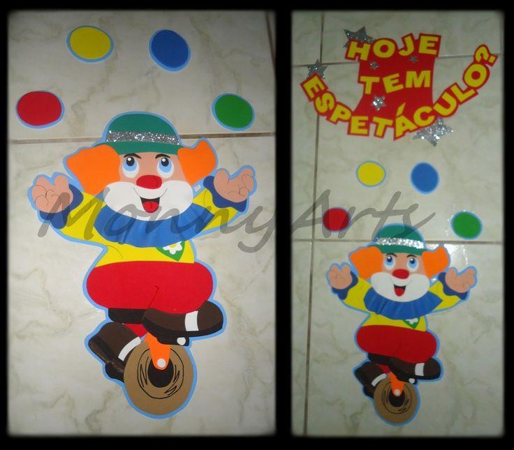 Decoracao De Sala Infantil ~ Decoração para sala de aula Painel Dia do Circo  Arte na escol