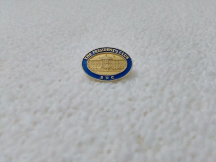 Vintage Republican National Convention The Presidents Club White House pin badge