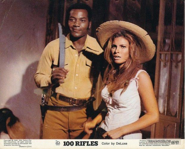 100 Rifles - Lobby card with Raquel Welch & Jim Brown
