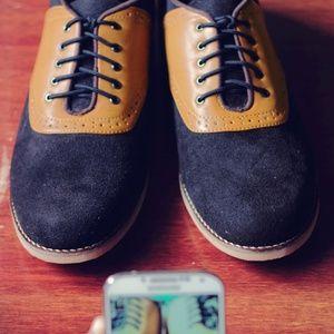 sepatu casual formal headway mind black