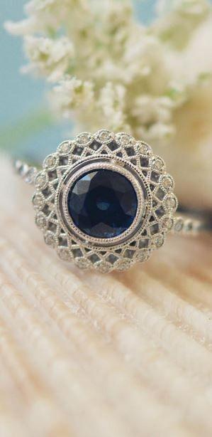 Stunning sapphire engagement ring