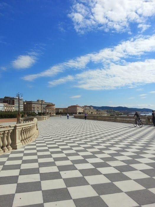 Livorno, terrazza Mascagni. One of the most interesting town in Tuscany.