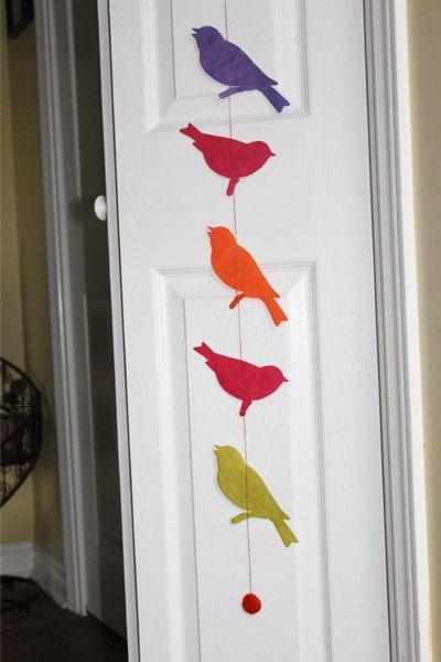 Handmade Paper Bird Garland Holiday Decor Inspiration