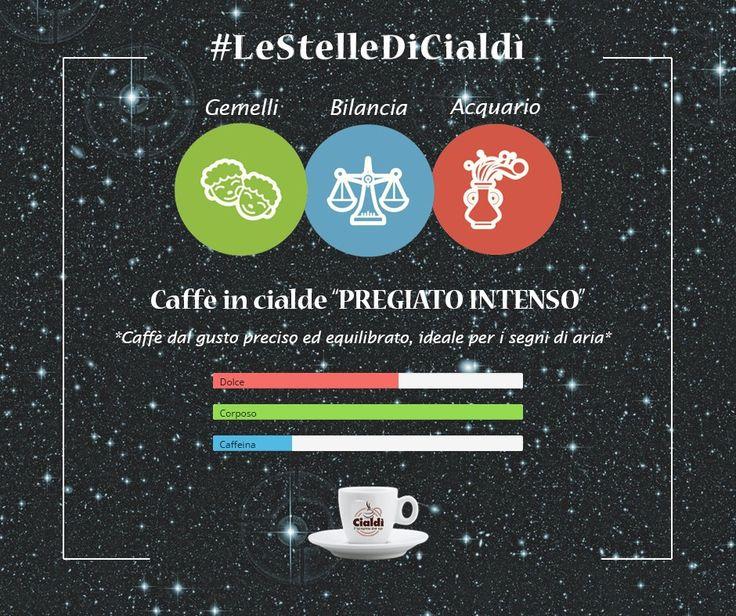 """Buongiorno con #LeStelleDiCialdì   I segni di aria: Gemelli, Bilancia e Acquario simboleggiano la ragione, l'apertura mentale e l'estrosità. Per i loro momenti di creatività non potranno rinunciare al caffè in Cialde """"Pregiato Intenso"""" dal gusto preciso ed equilibrato #cialdì #morningcoffee #oroscopo www.cialdi.it   #Coffee #CoffeeTime #Espresso #Caffeine #Cafe #CoffeeShop #Keurig #Latte #CoffeeAddict #Brew #LatteArt #Drink #Morningcoffee #CoffeeMaker #Cappuccino #Mug #Barista #Caffè"""