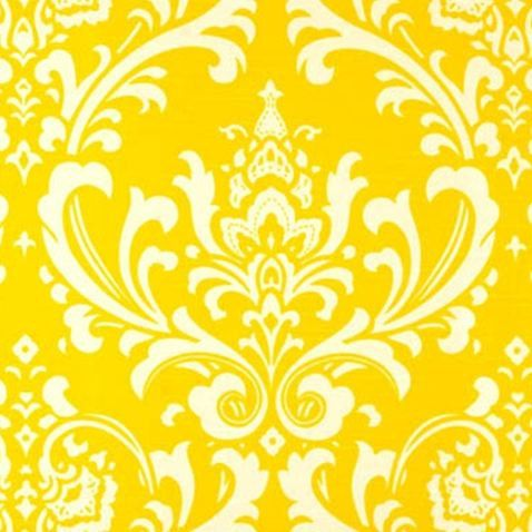 Damask Curtain Panels Yellow and White Damask by exclusiveelements, $105.00