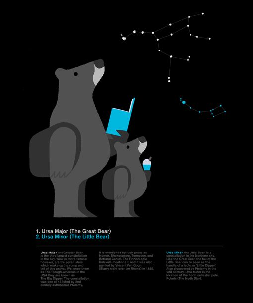 Great Bear and Little Bear illustration by Adrian Johnson
