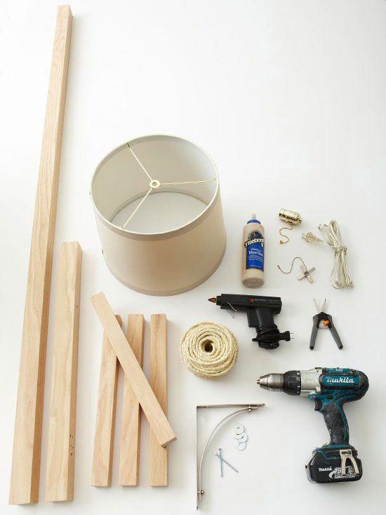 Lámpara DIY de estilo rústico - Guía de MANUALIDADES