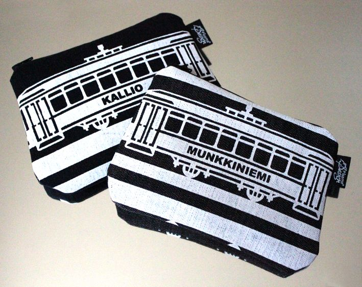 Tram -kukkaro // Tram purse (Design by Pisama Design)