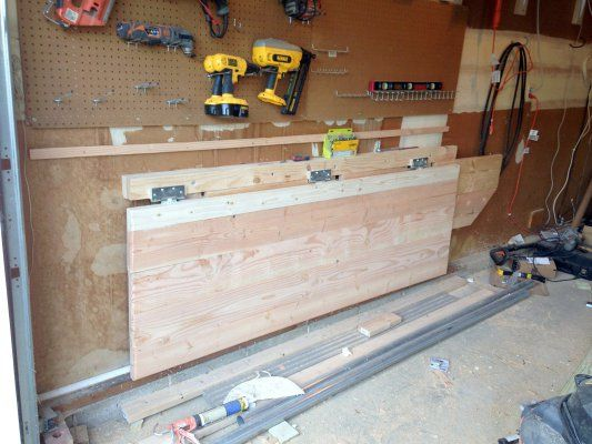 How to build a sturdy, folding workbench for a multi-use space.