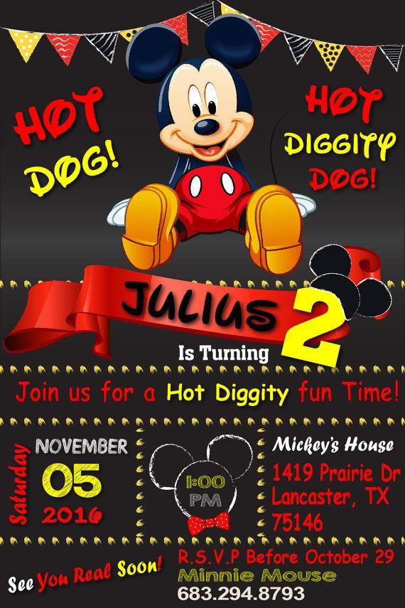 Invitación de cumpleaños Mickey Mouse Mickey por OhhLaLaTresChic Más