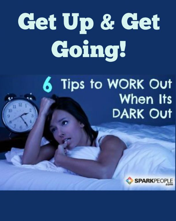 How to Make Yourself Work Out When It's Dark Out | via @SparkPeople #workout #fitness #healthyliving #noexcuses