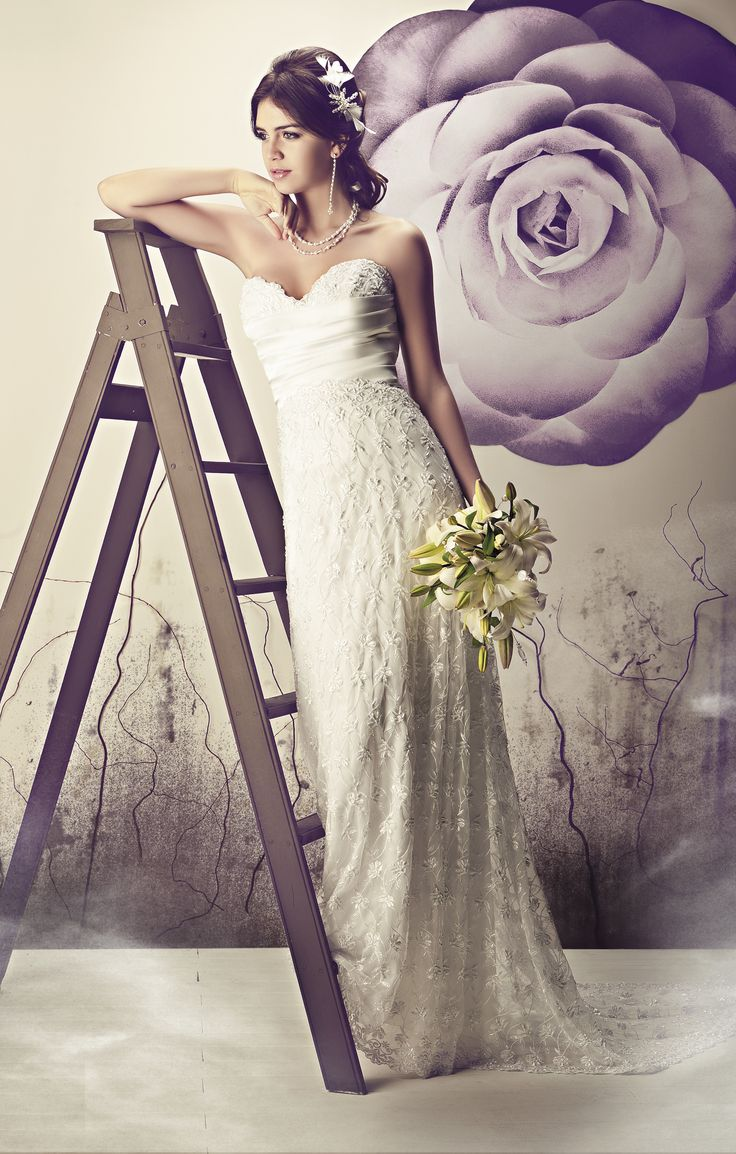 Vestidos de novia de seda francés