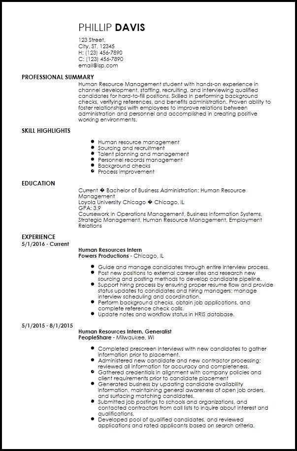 Free Creative Internship Resume Templates Resume Now Internship Resume Resume Examples Resume Templates