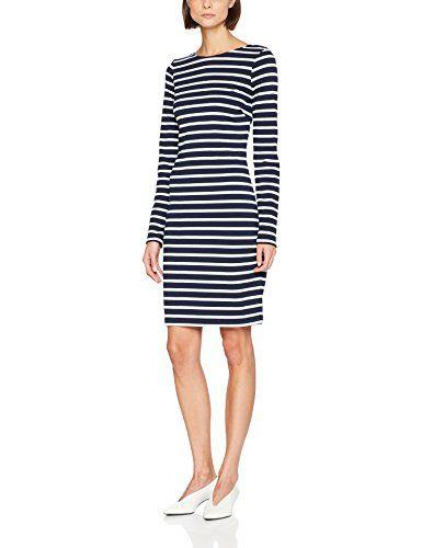 Tommy Jeans Damen Basic Langarm Kleid Blau (Navy Blazer ...
