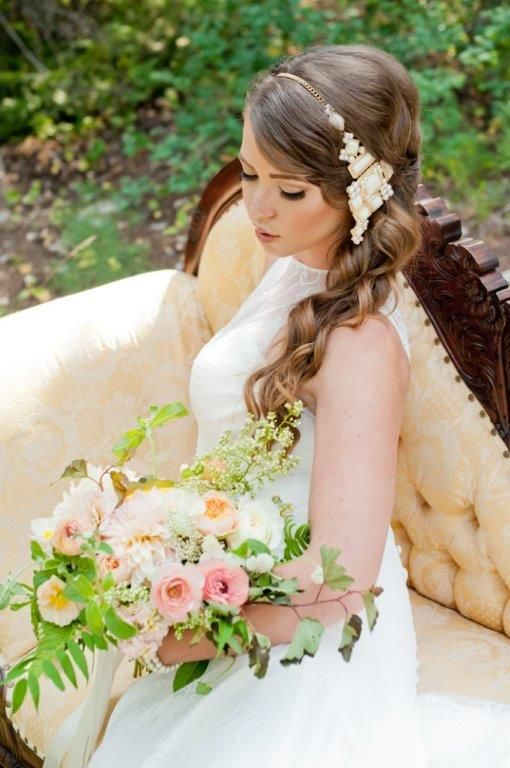 Make a statement with a unique jewel headband | Wedding hair by Carrie Purser Makeup and Hair Artistry