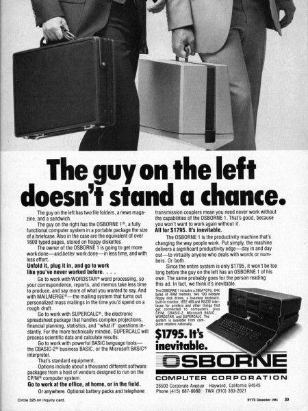 """IL PERSONAL COMPUTER - 1980  E' l'Aprile del 1981 quando laOsborne Computer Corporation, nata dal successo nel campo dei libri sull'informatica diAdam Osborne, rilascia al grande pubblico l'Osborne I,uno dei primi computer portatili della storia ad avere grande successo. Questa macchina seguiva il design """"a valigia"""" che venne usato successivamente da altri produttori durante il corso di tutti gli anni 80. Il computer era costituito da unascocca in plastica al cui interno risiedevano…"""