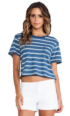 Current/elliott The Cropped Crew Tee In Castaway WAS $87.29 NOW $61.55 http://www.richgurl.com/linkout/2080454