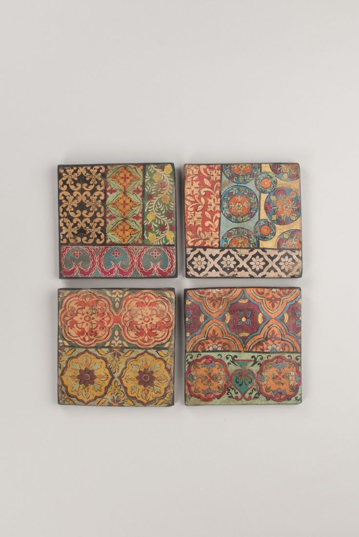 Hand-Painted Terracotta Tiles