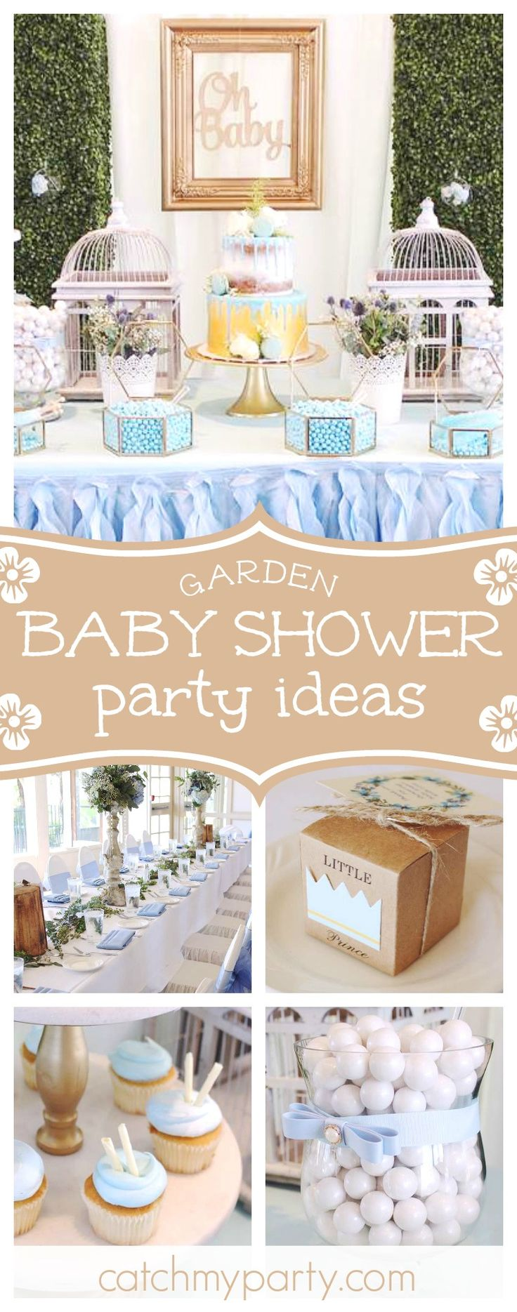 Don't miss this gorgeous Garden Baby Shower. Th cake is absolutely incredible!! See more party ideas and share yours at CatchMyParty.com