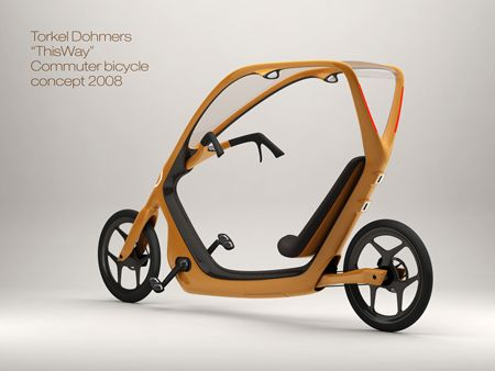 "ThisWay bicycle design. The new bicycle design by Torkel Dohmers won the 'commuter bike for masses' design competition. The bicycle named ""ThisWay"" has been designed keeping in mind the safety and security of the rider from all sorts of situation."