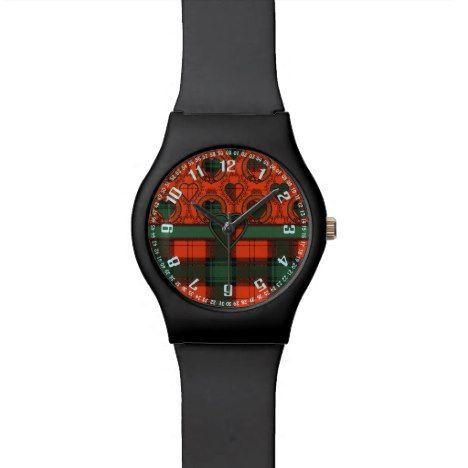 MacGlashan clan Plaid Scottish kilt tartan Watch #tartan #pattern #watches