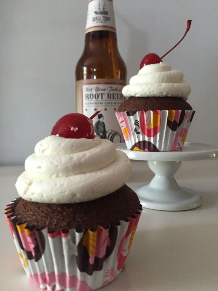 Not Your Father's Root Beer Float Cupcakes