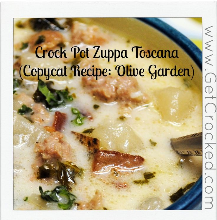 Pin by crock pot girl on slow cooker soup - Olive garden zuppa toscana crock pot ...