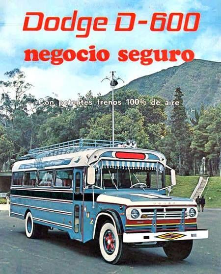 - Promocionando los buses Dodge en el año de 1970 -
