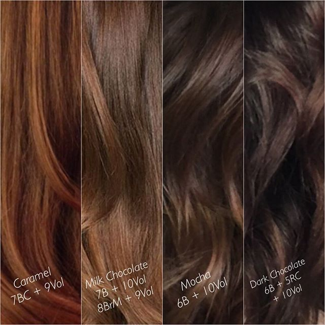"I think I have a chocolate problem  . . Formulas listed! Everyone's perception of ""Chocolate brown"" is so different, so I love having some examples to share . . @kenraprofessional #kenracolor #kenra #kreate #chocolatebrown #brownhair #brunette #richhaircolor #richbrown #fallhaircolor"