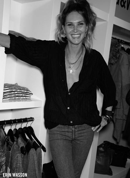 Erin Wasson's at Zadig & Voltaire party