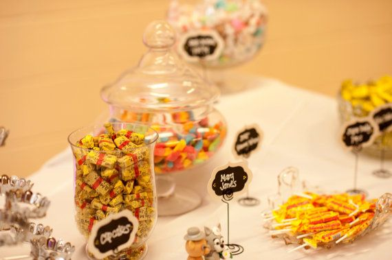 Set of 10  Mini Chalkboard Candy table signs by deliciousdisplays, $10.00