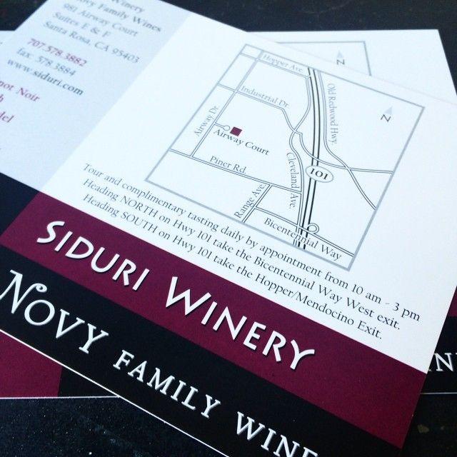 A hand drawn #map for a #digitalprint of the #Siduri #Winery #postcard