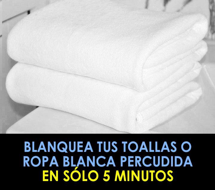 Tips blanquear la ropa percudida