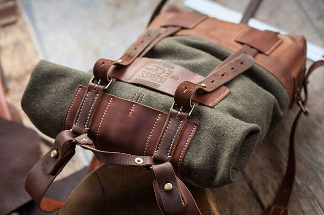 cloth and leather backpack 079  #notlessorequal #fieldcraft #handcraft #leathercraft  #clothandleather #backpack #rucksack #tornister #gear  #equipment #military #retro #oldstile