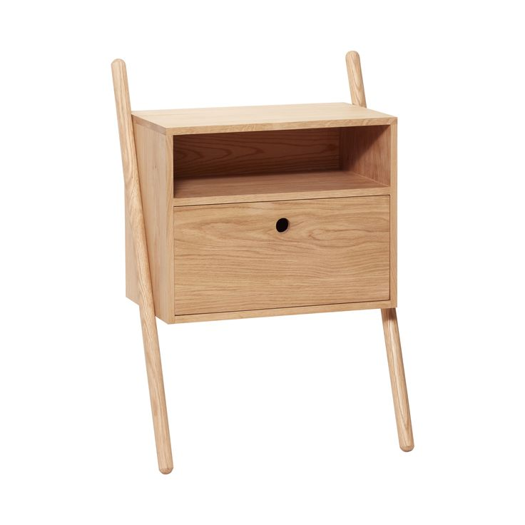 Oak dresser with drawer. The leaning function creates a lightness to the furniture design. Item number: 880412 - Designed by Hübsch