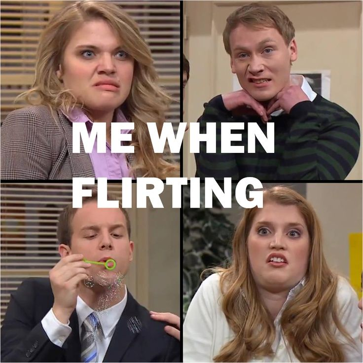 Hahaha! I never flirt, but if I did I'm sure this is what I'd look like. :)