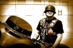 tactical black german motorcycle helmet USMC
