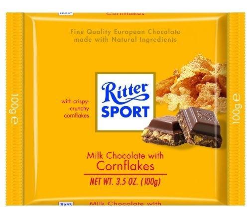 Mmmmmm.......  Ritter Sport Milk Chocolate with Corn Flakes