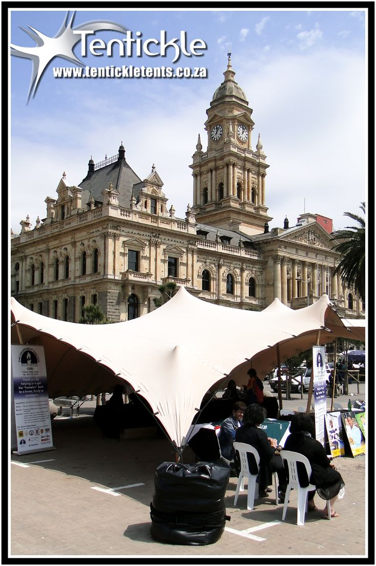 Setup at The Grande Parade in town #grandeparade #capetown #stretchtents